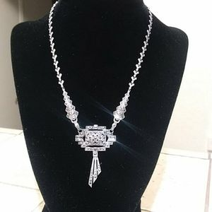 Antique Deco marcasite Sterling necklace
